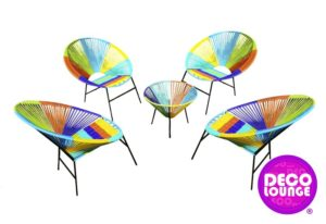 sillas y mesa acapulco para eventos